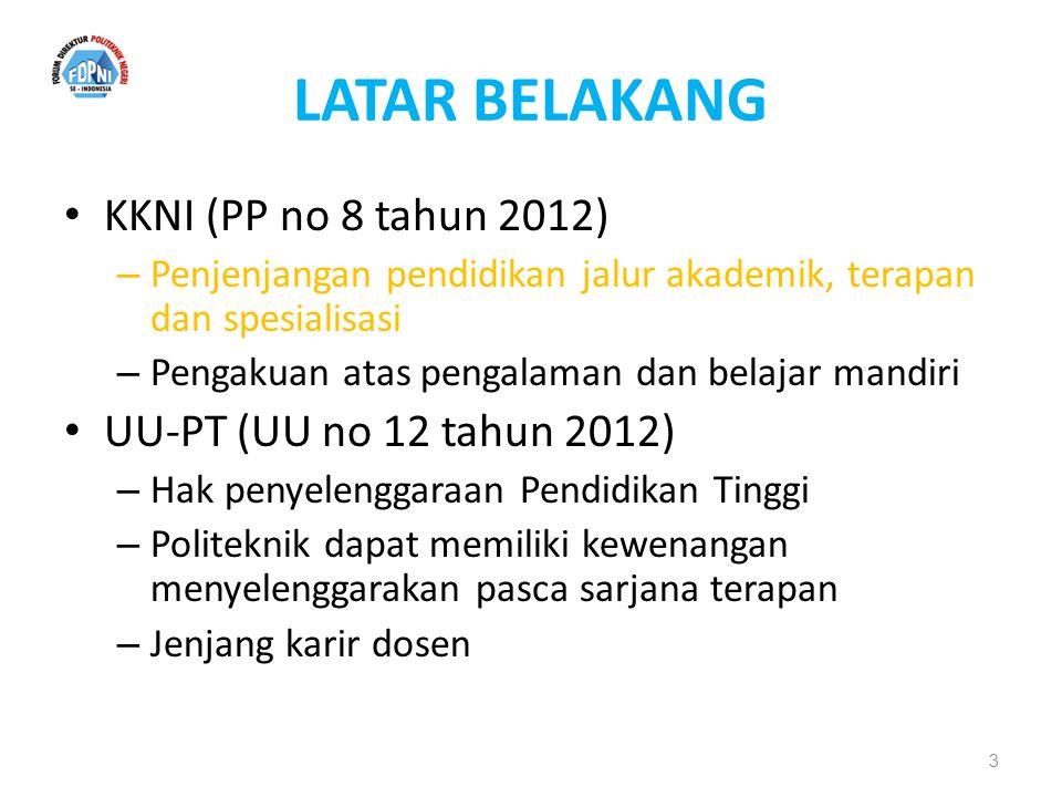 LATAR BELAKANG KKNI (PP no 8 tahun 2012) UU-PT (UU no 12 tahun 2012)