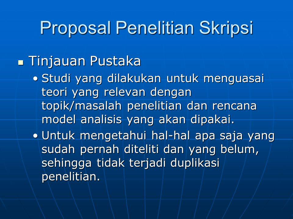 Proposal Penelitian Skripsi