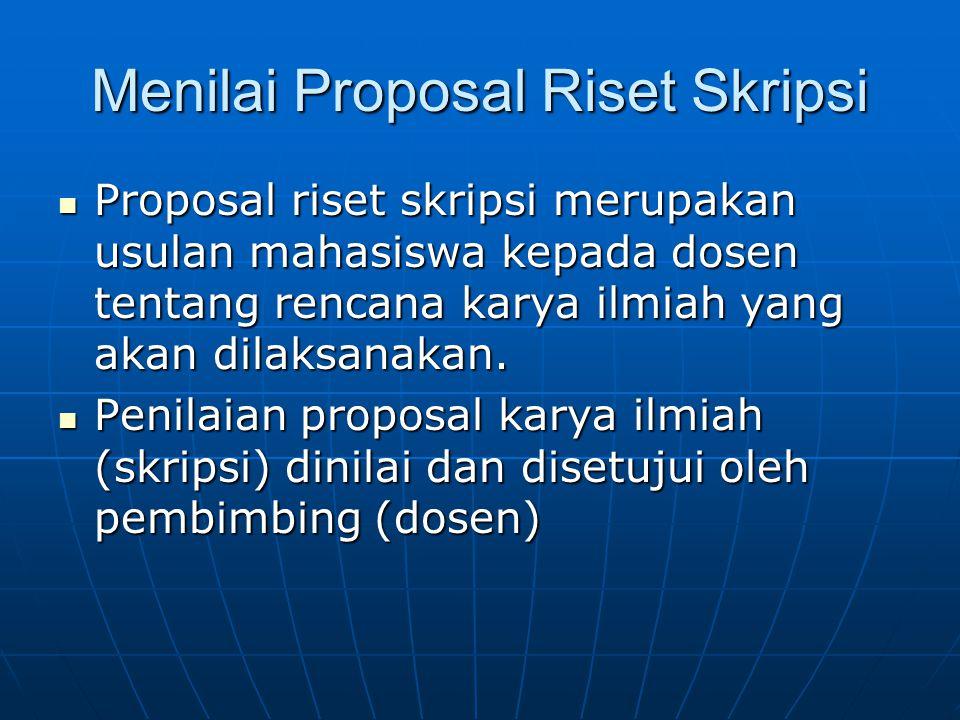 Menilai Proposal Riset Skripsi