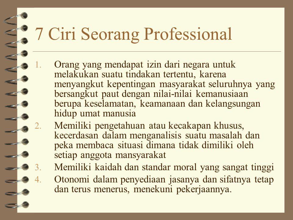 7 Ciri Seorang Professional