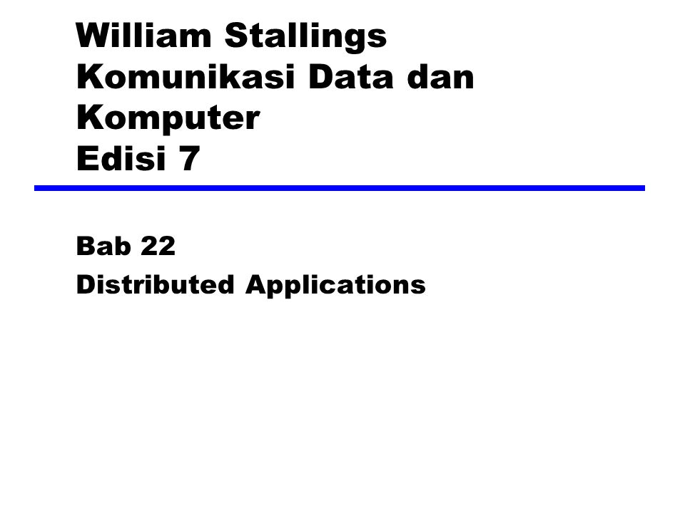 William Stallings Komunikasi Data dan Komputer Edisi 7