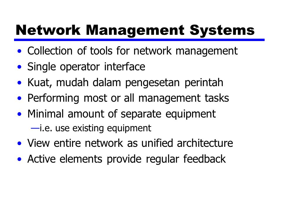 Network Management Systems