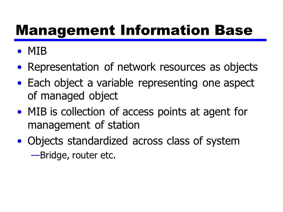 Management Information Base