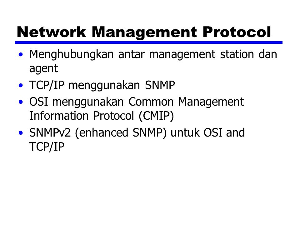 Network Management Protocol