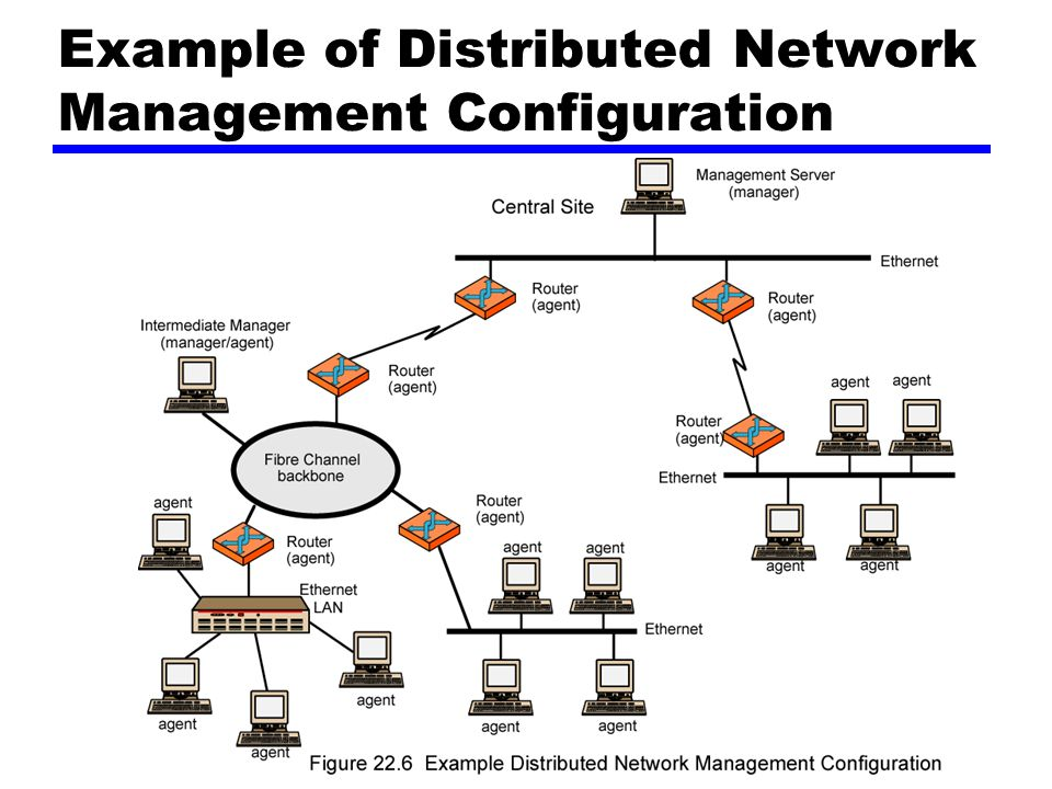 Example of Distributed Network Management Configuration