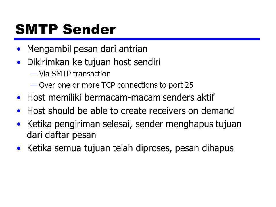SMTP Sender Mengambil pesan dari antrian
