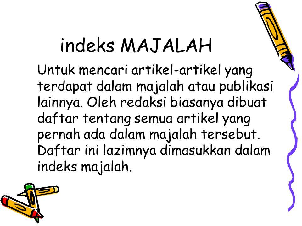 indeks MAJALAH
