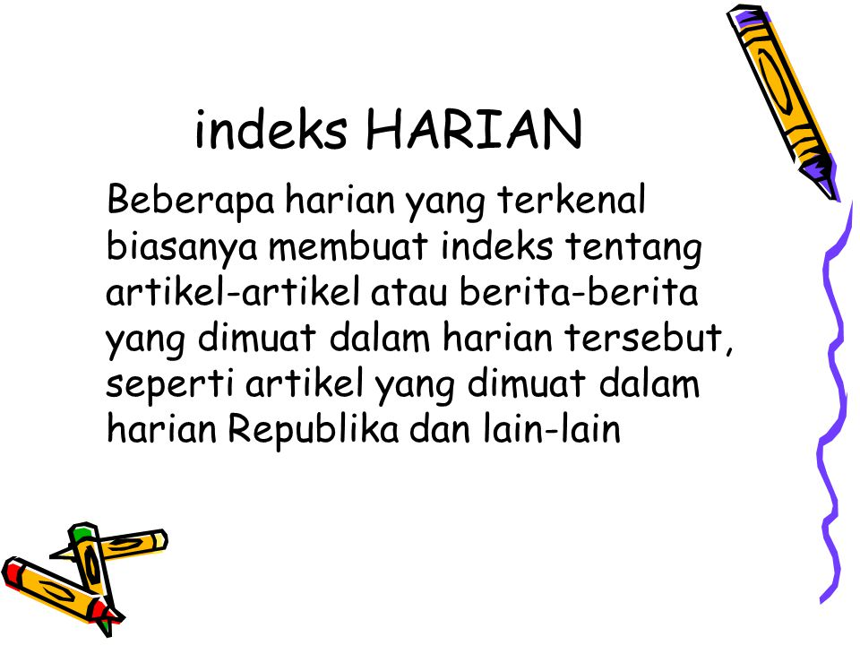 indeks HARIAN