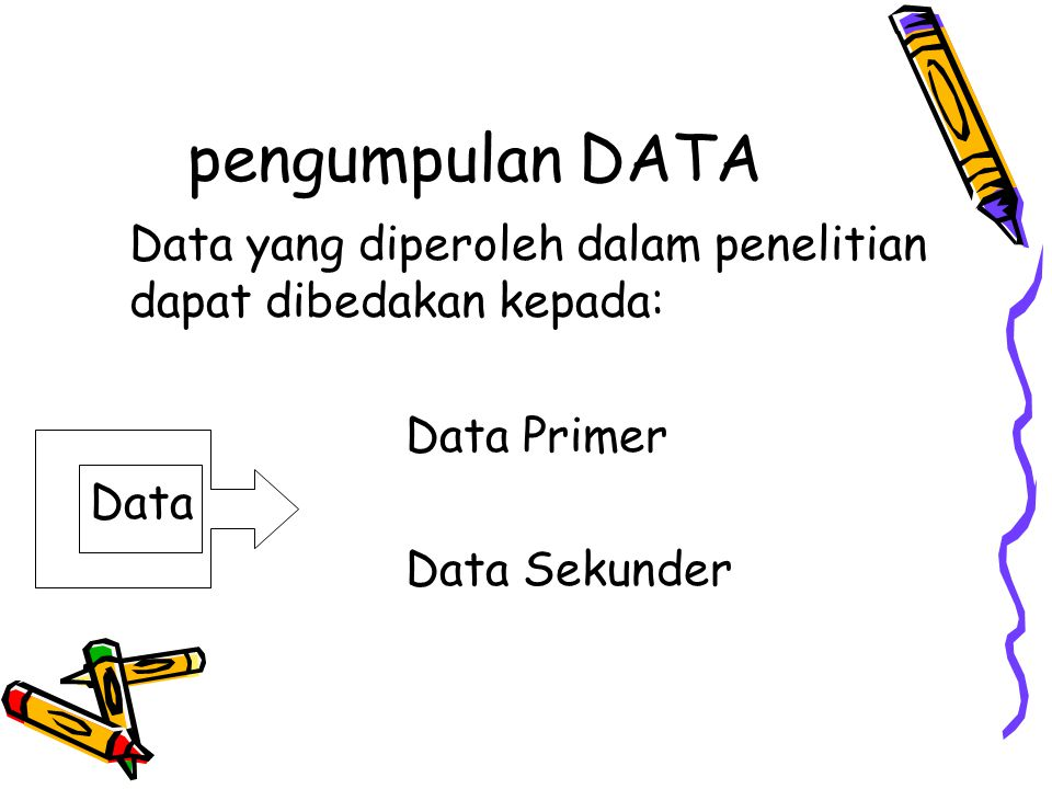 pengumpulan DATA Data yang diperoleh dalam penelitian dapat dibedakan kepada: Data Primer.