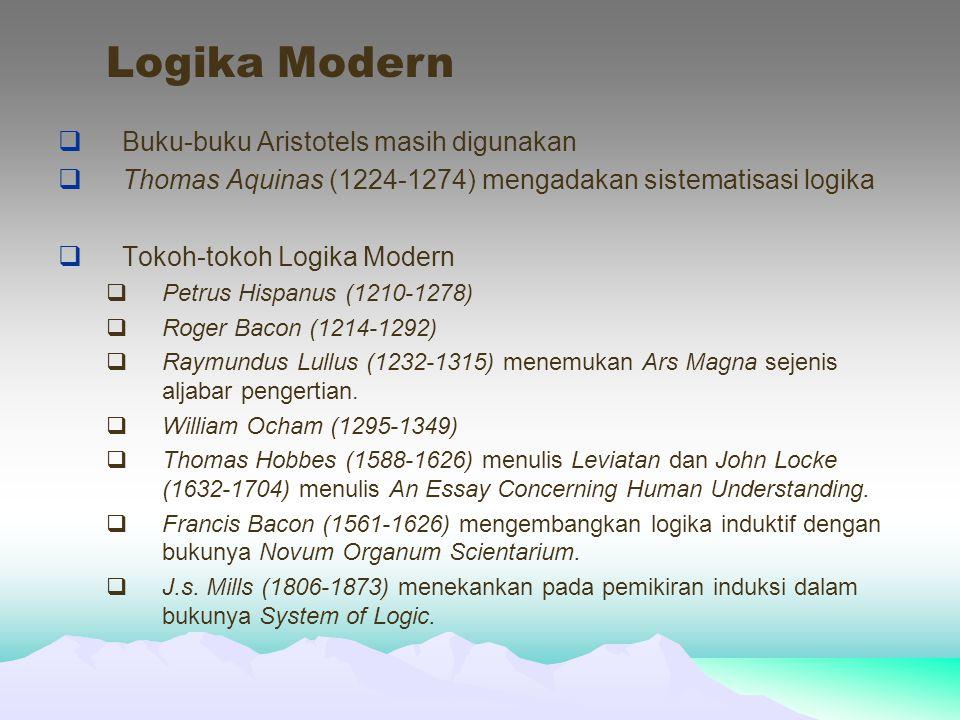 Logika Modern Buku-buku Aristotels masih digunakan