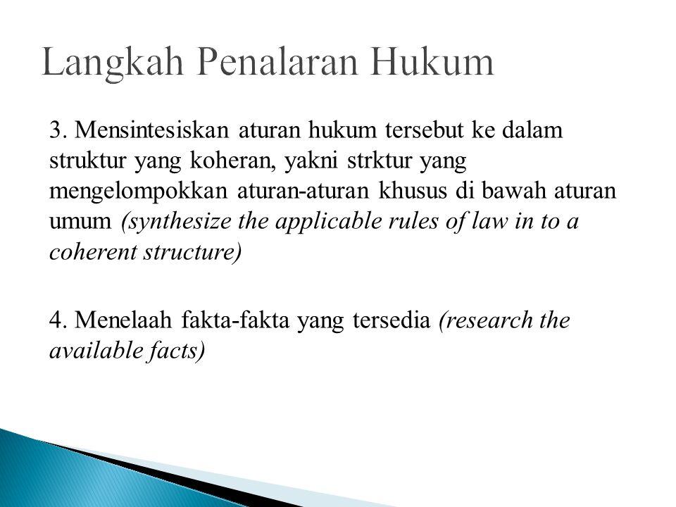 Langkah Penalaran Hukum
