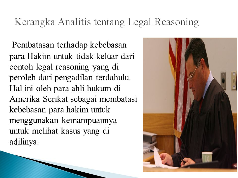 legal reasoning The legal reasoning and analysis (lra) minor is ideal for students interested in preparing for the pre-law track it provides a solid foundation for a legal education and exposes students to the type of reasoning that law students and lawyers use it also includes the core skills and values that are.