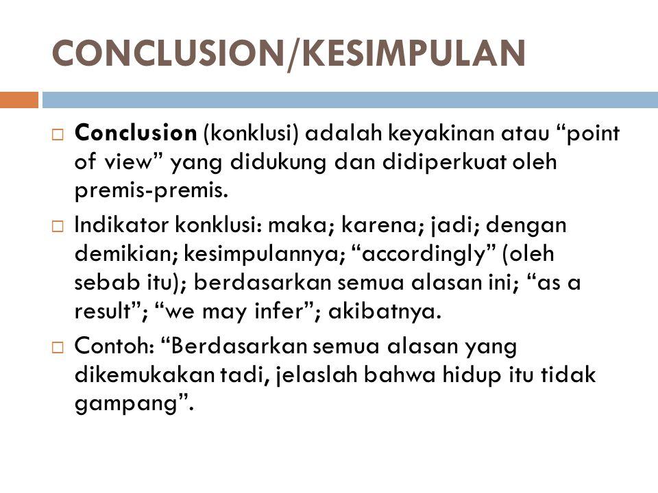CONCLUSION/KESIMPULAN