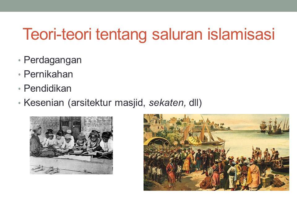 Teori-teori tentang saluran islamisasi
