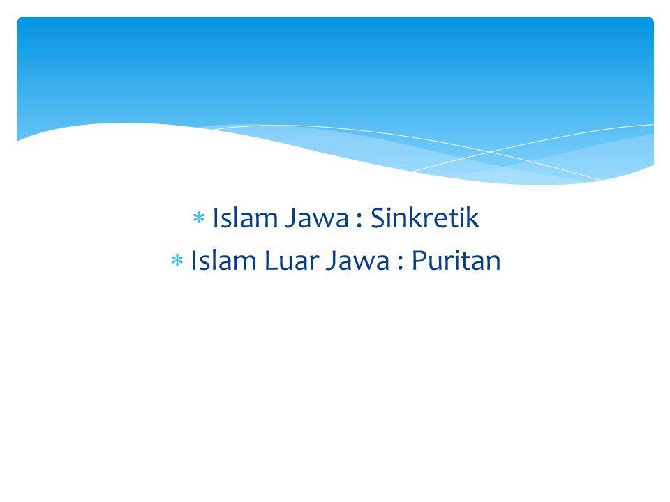 Islam Luar Jawa : Puritan