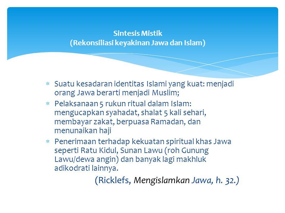 Sintesis Mistik (Rekonsiliasi keyakinan Jawa dan Islam)