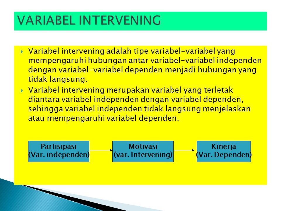VARIABEL INTERVENING