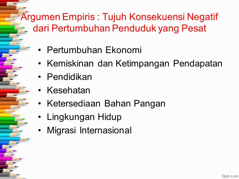 Argumen Empiris : Tujuh Konsekuensi Negatif dari Pertumbuhan Penduduk yang Pesat
