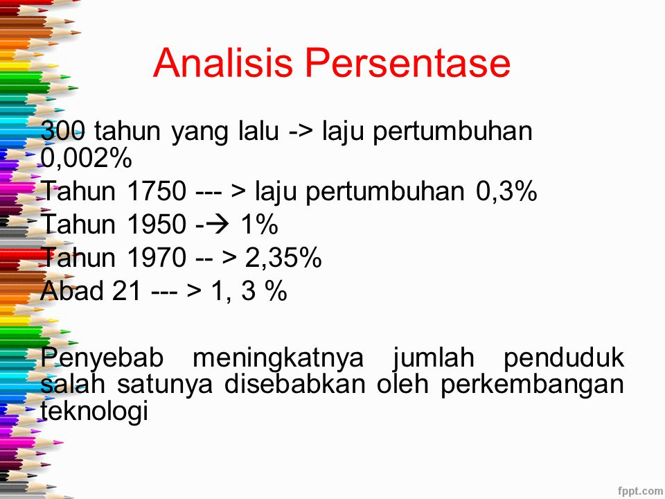 Analisis Persentase