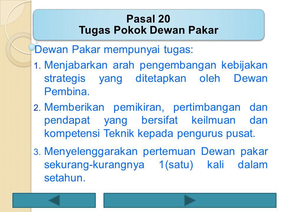 Pasal 20 Tugas Pokok Dewan Pakar