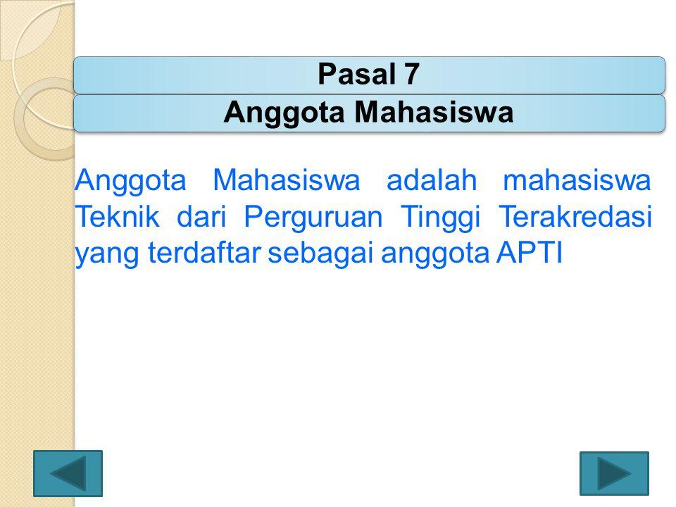 Pasal 7 Anggota Mahasiswa.
