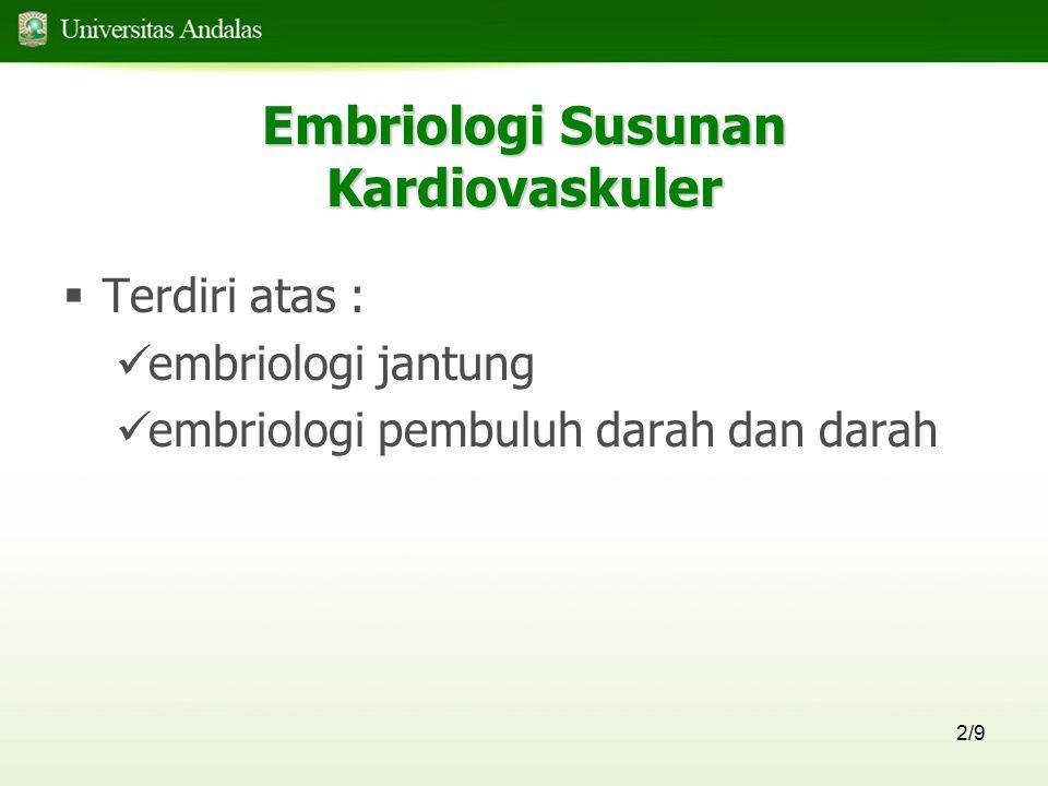 Embriologi Susunan Kardiovaskuler