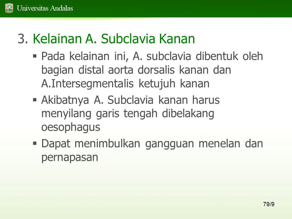 3. Kelainan A. Subclavia Kanan