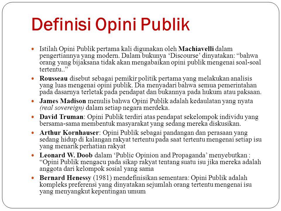 Definisi Opini Publik