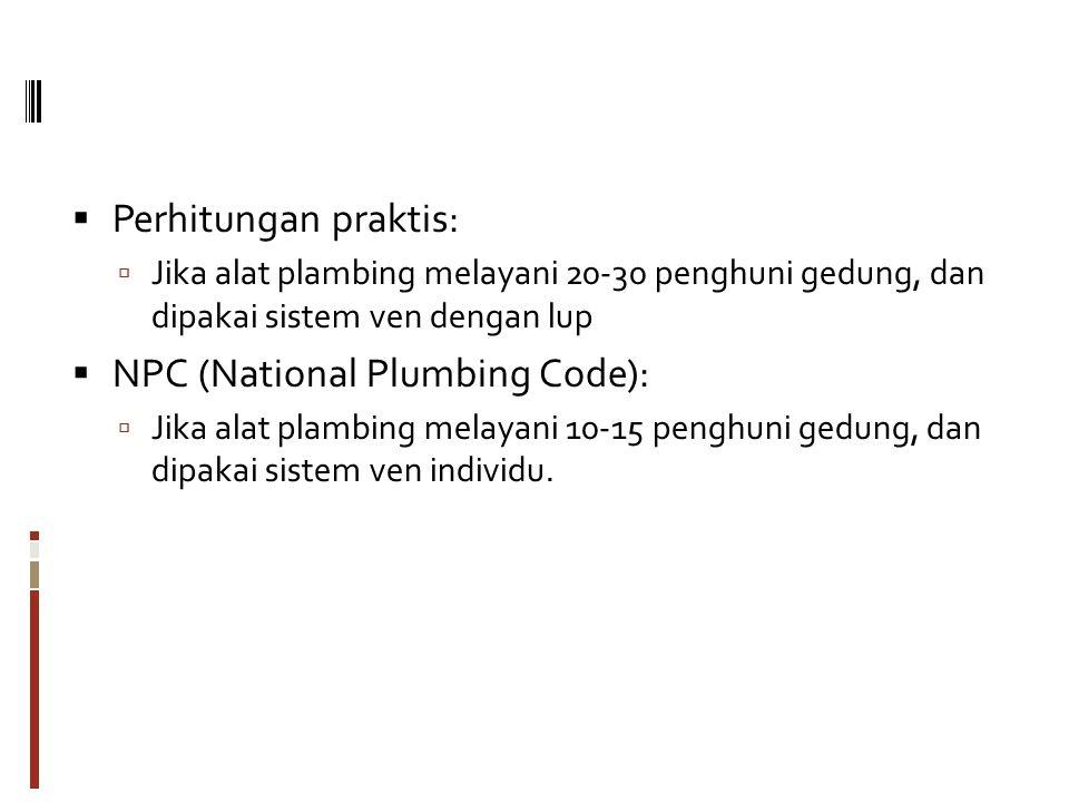 NPC (National Plumbing Code):