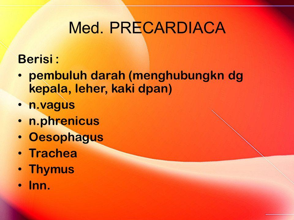 Med. PRECARDIACA Berisi :