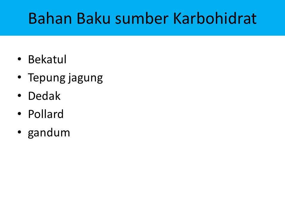Bahan Baku sumber Karbohidrat