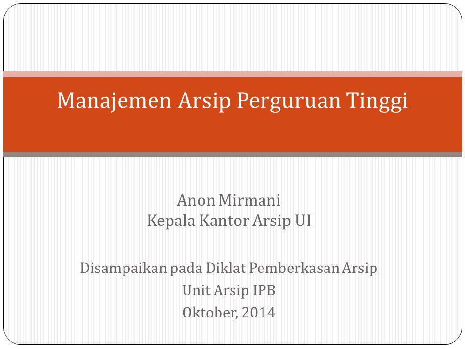Manajemen Arsip Perguruan Tinggi