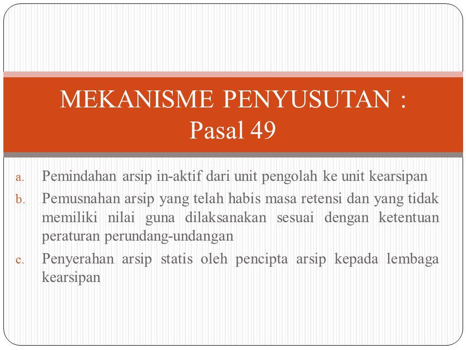 MEKANISME PENYUSUTAN : Pasal 49