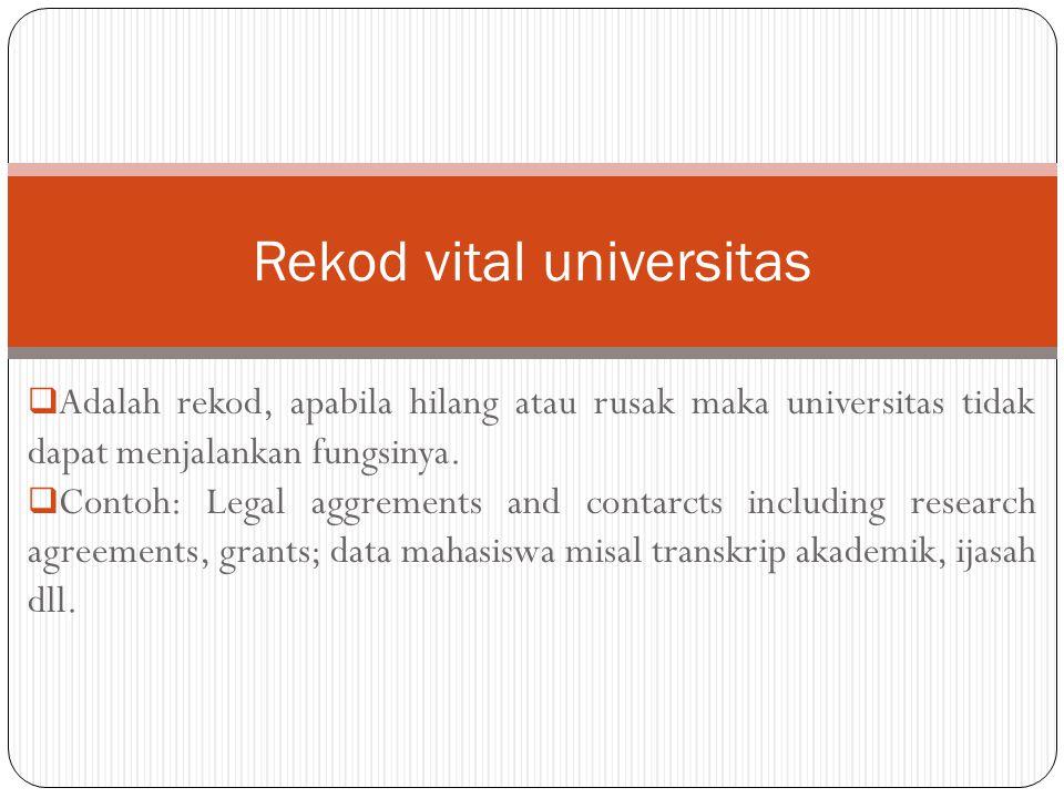 Rekod vital universitas