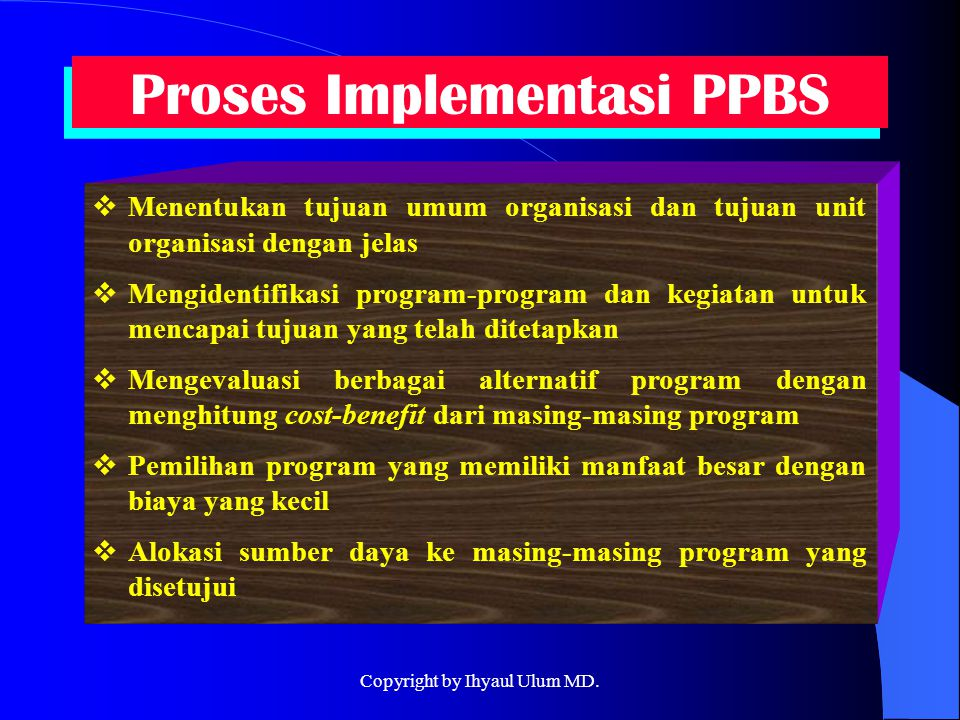 Proses Implementasi PPBS