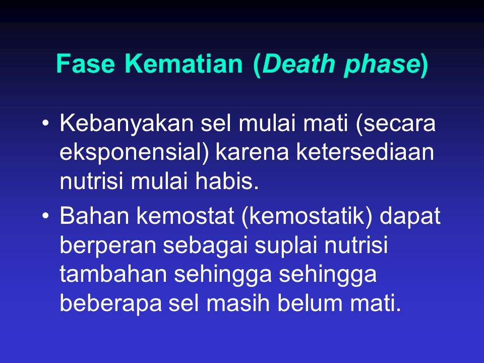 Fase Kematian (Death phase)