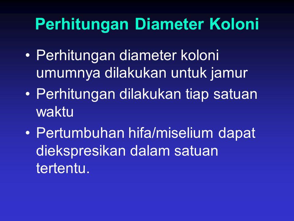 Perhitungan Diameter Koloni