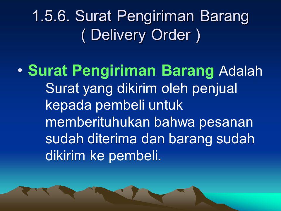 1.5.6. Surat Pengiriman Barang ( Delivery Order )