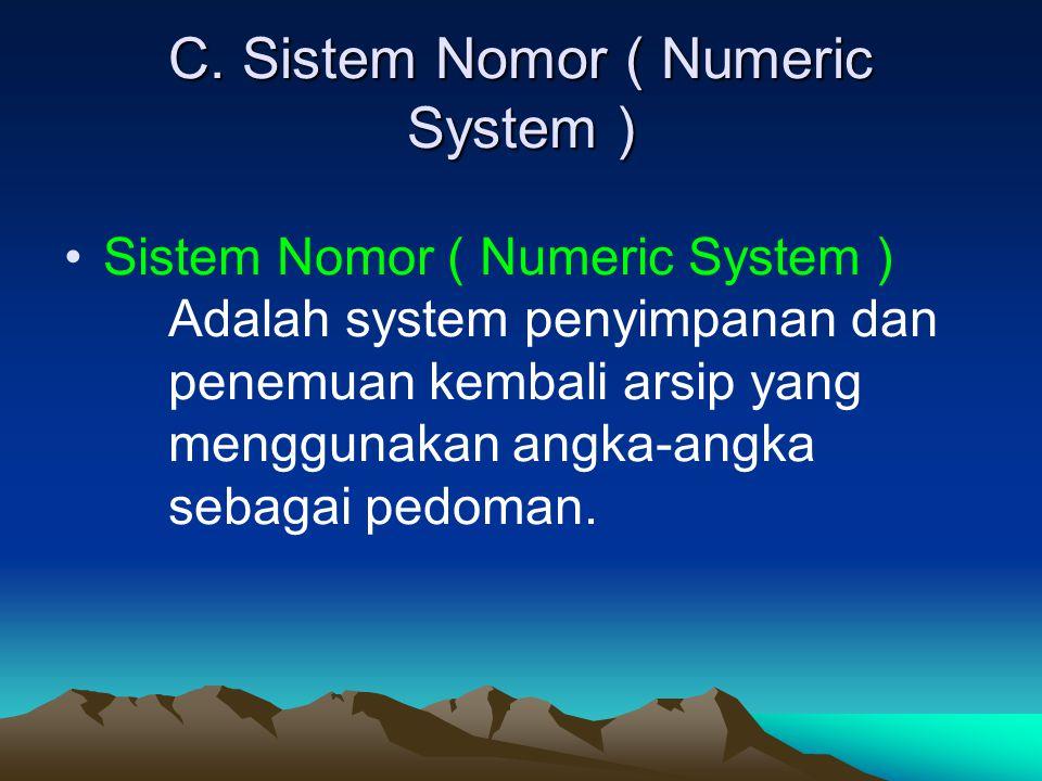 C. Sistem Nomor ( Numeric System )