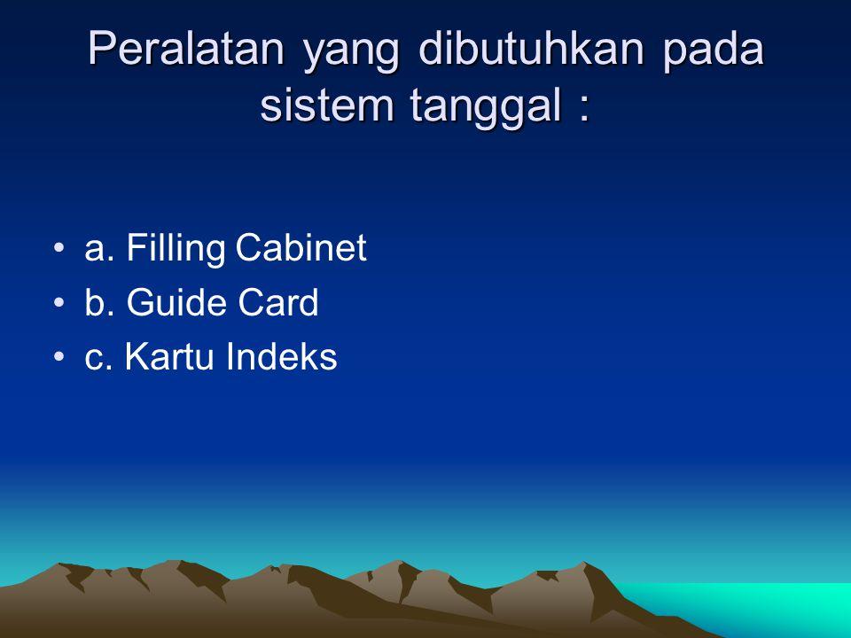 Peralatan yang dibutuhkan pada sistem tanggal :
