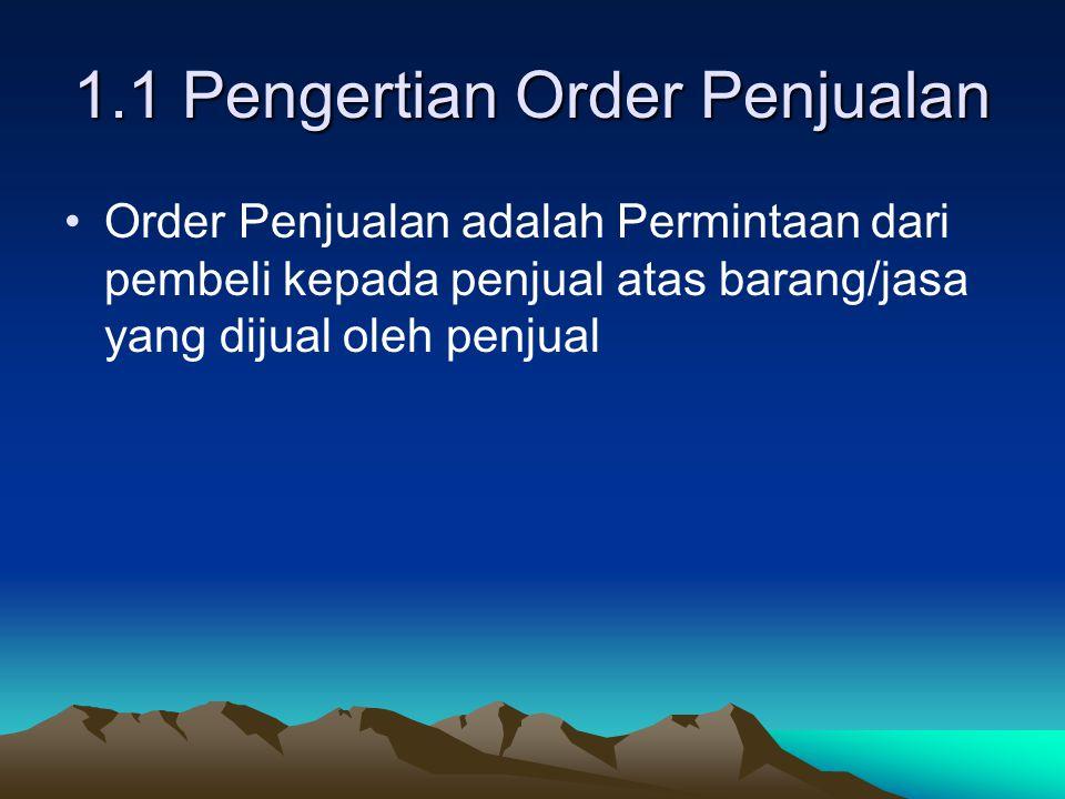1.1 Pengertian Order Penjualan