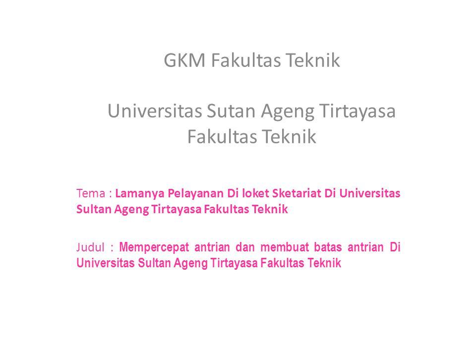 GKM Fakultas Teknik Universitas Sutan Ageng Tirtayasa Fakultas Teknik
