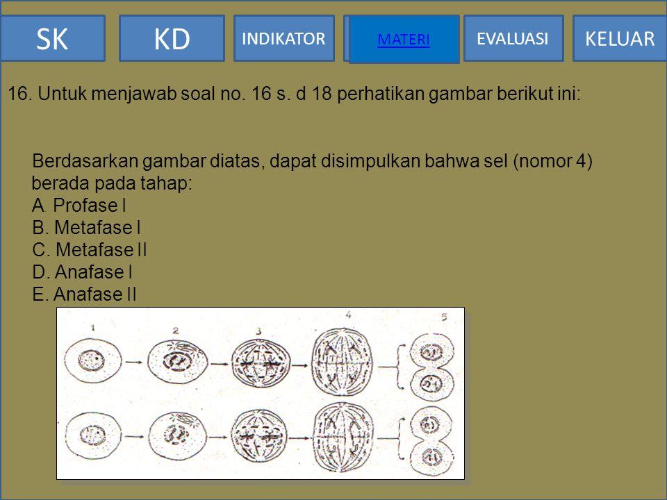 16. Untuk menjawab soal no. 16 s. d 18 perhatikan gambar berikut ini: