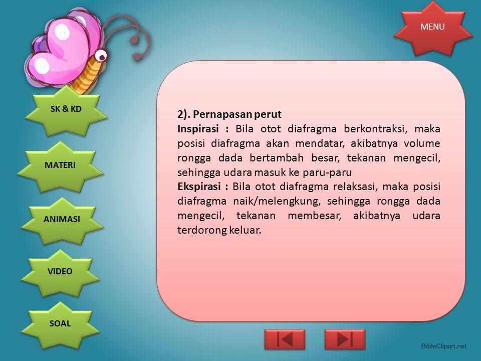 2). Pernapasan perut