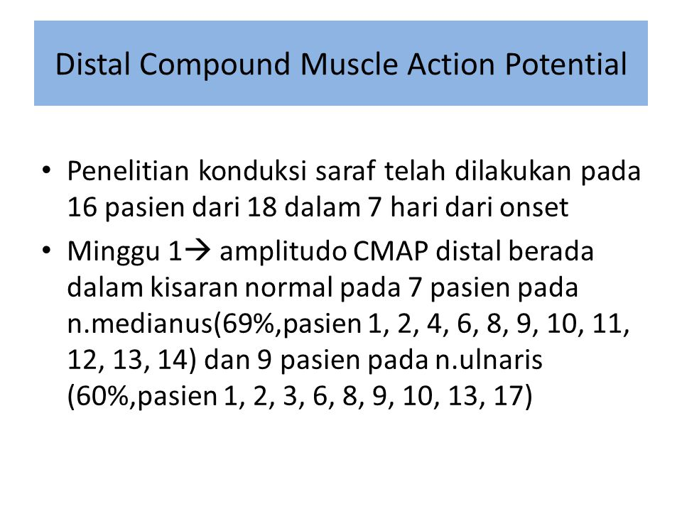 Distal Compound Muscle Action Potential
