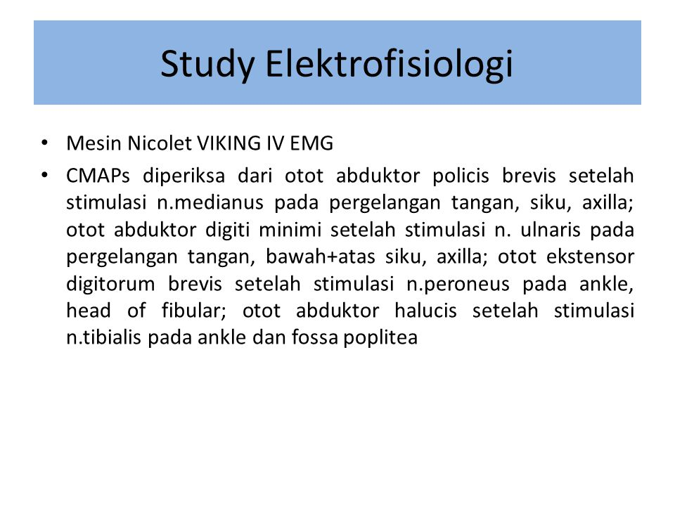 Study Elektrofisiologi