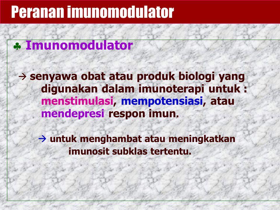 Peranan imunomodulator