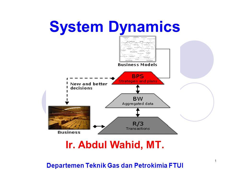 Ir. Abdul Wahid, MT. Departemen Teknik Gas dan Petrokimia FTUI