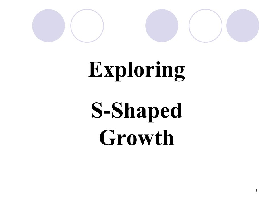 Exploring S-Shaped Growth