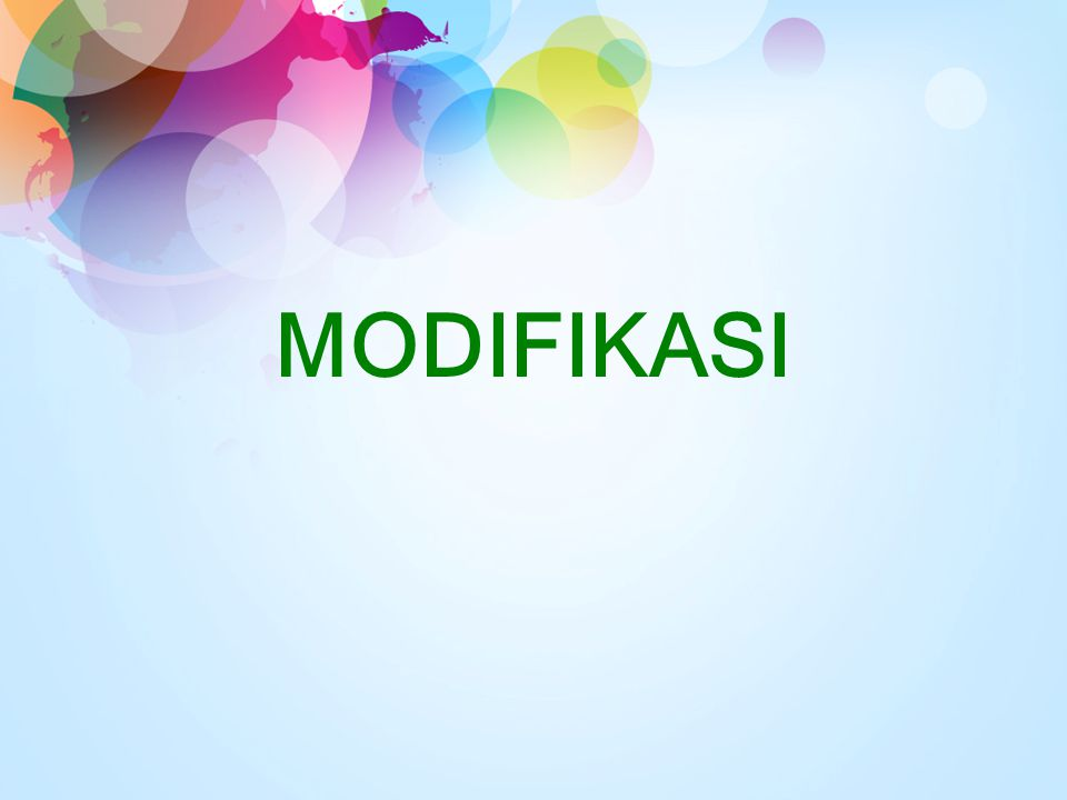 MODIFIKASI